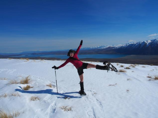 Snowshoeing above Lake Tekapo - so epic!